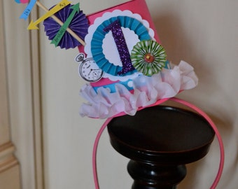Alice in Wonderland Top Hat, party hat, head band