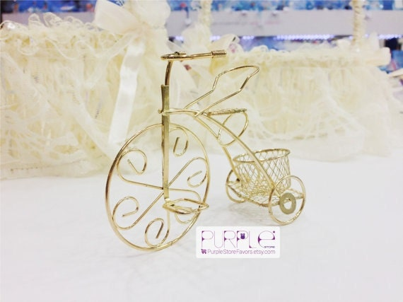 Items Similar To Bicycle Golden Theme Wedding Favor