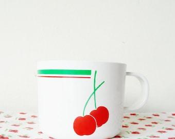 vintage cherry picnic cups - set of 4