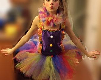 Clown tutu outfit, clown costume, circus outfit tutu outfit