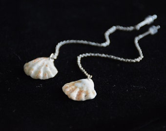 Kitten Paw Shell Drop Earrings