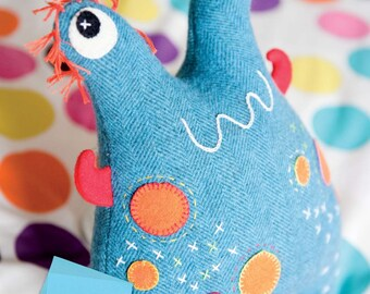 Harry the Monster Toy Sewing Pattern Download (803774)