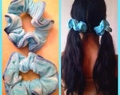 PASTEL BLUE -scrunchie, ponytail, hair, accessories, spice girls, 90s, britney spears, internet, fairy, cute, kawaii, seapunk, cyber wave-