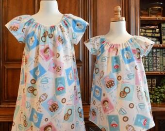 Girls Flannel Nightgown, Girls Pajamas, Girls Nightshirt,  Ready to ship