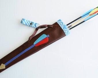 Handmade Quiver with applique arrow