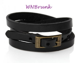 Closing Sale Leather Watch Wrap - 24 Inches Long- Wrap Jewelry Watchband Leather Bracelet