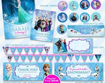 Frozen Birthday, Frozen Invitation, Frozen Elsa Invite, Frozen Party Invite, Frozen Printable, Olaf Invitation, frozen invite, Digital file