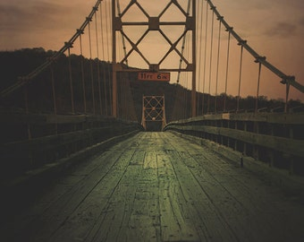 Bridge Photography 8x10 print Fine Art Photography Landscape Photography Home Decor Living Room Decor Arkansas Photography