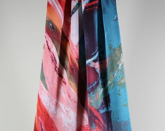 Chiffon Scarf / Infinity Scarf- Multicolor : chiffon scarf , fashion scarf , lightweight scarf ,accessories , women
