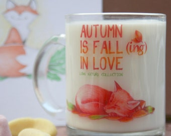 Cup Fox transparent autumn - Love Nature Collection