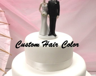 Personalized Wedding Cake Topper - Funny Bride and Groom - Weddings - Love Pinch Cake Topper - Modern - Fun Cake Topper