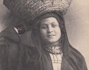 1900s Ethnic,Exotic,Native Egyptian Woman Photographic