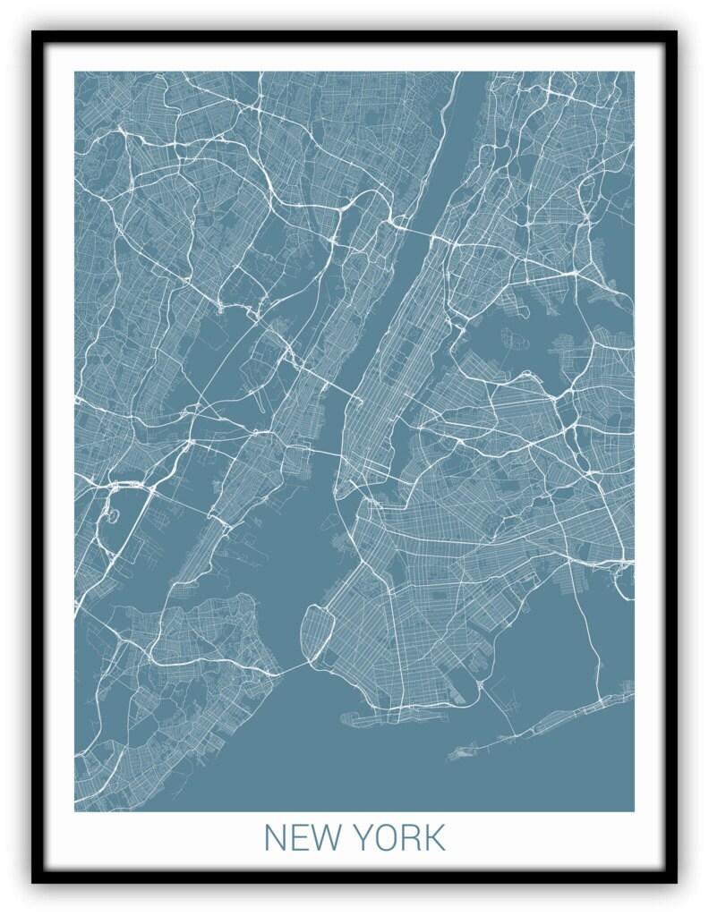 new york stadtplan drucken kunst new york karte kunst new. Black Bedroom Furniture Sets. Home Design Ideas