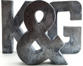 Faux Metal Letters - Zinc - Metal - Antique - Vintage - Farmhouse - Industrial - Decorative - Rustic - Decor - Modern - Modern Farmhouse