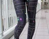 TAFI Pac Man Leggings - 2015 Retro Video Game Costume or Yoga Pants Black Milk Galaxy CosPlay Print