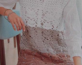 Handmade crochet top vest dress tunic jumper women crochet clothes MADE TO ORDER