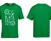 BMX Bike Parts Kids Childrens Childs Cotton TShirt Retro Bicycle Parts Bike Shop Mechanic Cycling Clothing NEW