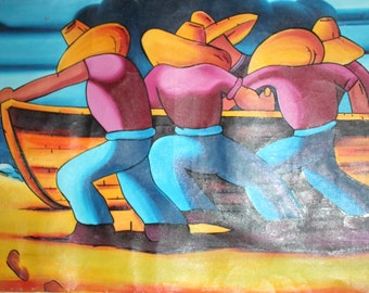 Contemporary art oil surreal figural painting