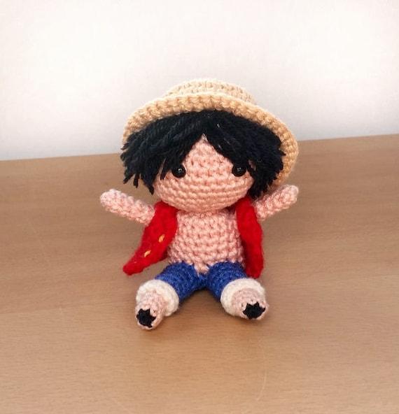 Luffy One Piece Amigurumi crochet doll