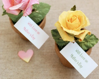 Mother's Day Mini Paper Rose Pots