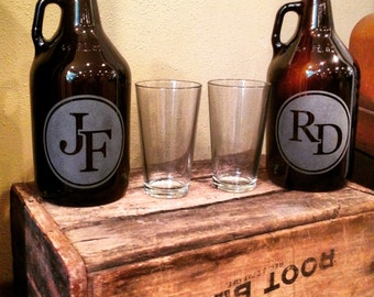 Growler, Personalized growler, Monogram, Groomsmen Gift, Groomsman Gift, Monogram Growler, Bestman Gift, Father of the bride, wedding
