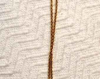 Vintage Gold Rose Necklace/Brooch