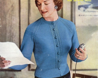 40 inch bust -4 ply - ladies knitting patterns - pdf instant download