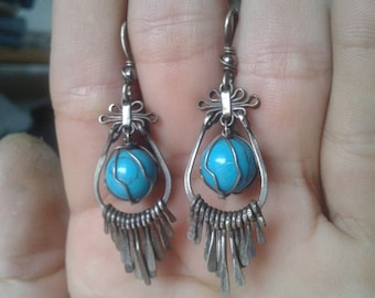 turquoise gemstone earrings