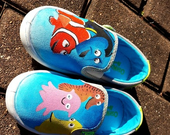 Custom Handpainted Finding Nemo Children's Shoes