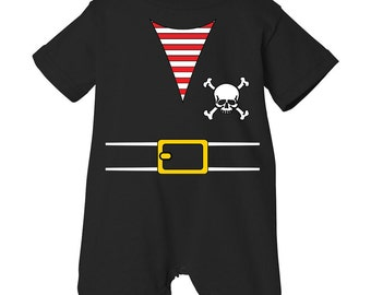 Pirate Baby Boy Or Girl Outfit Costume Short Sleeve Romper (PIR1-ROMP)