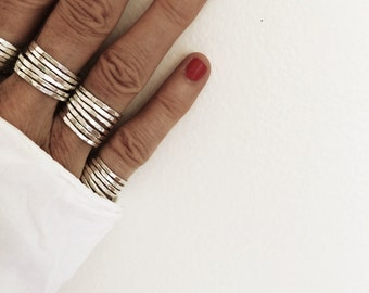 Fine Silver Stacked Rings
