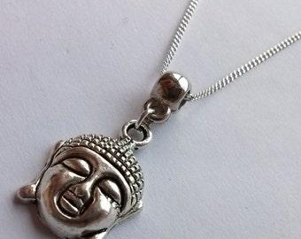 Buddha Necklace , Buddhist , Asian , Far East , Buddhist Necklace , Silver Necklace , Handmade Jewelry , Handmade Jewellery , Zen Gift