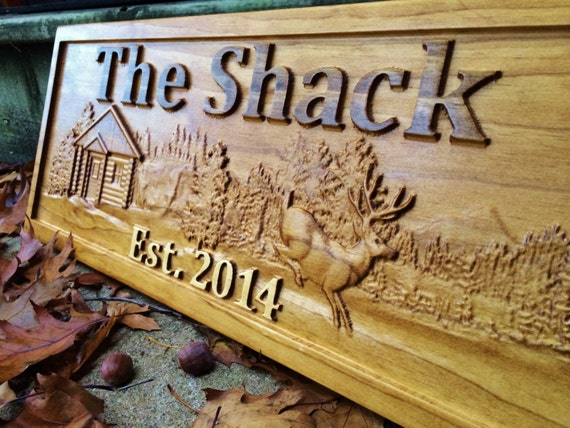 Personalized cabin sign custom wood sign rustic cabin decor for Cabin signs wood