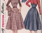 Uncut Vintage Simplicity Sewing Pattern 3972 Sleeveless Dress or Jumper & Lined or Unlined Cropped Jacket Bust 34