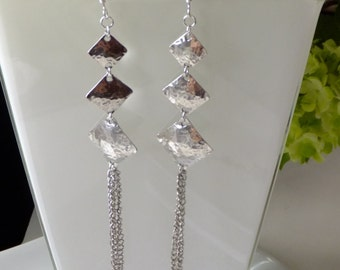 Earrings hammered silver .925