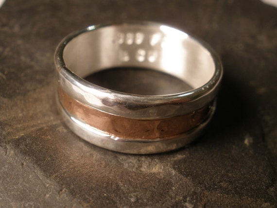 Simple Copper Wedding Ring Mens