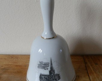 Vintage Goodliffe Neale Alcester England Fine China White Bell: All Saints Parish Church Rotherham