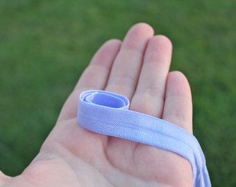 5/8 Lavender Fold Over Elastic - Lavender FOE - Lavender Elastic
