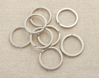 10Pcs Silver Plating  25mm  Diameter / Key ring / Round keyring  / Silver Split Key Ring /