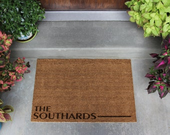 Personalized Door Mat - 3 Different Styles - 2 Sizes Available