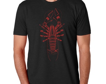 Steampunk Lobster Shirt 6210
