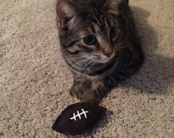 Football Cat Toy - Sport Organic Catnip Toy - Cat Dad Gift - Sports Fan Cat Lover Gift
