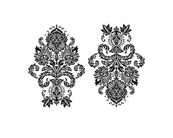 "Victorian Damask Temporary Tattoo - ""Warps & Wefts"""