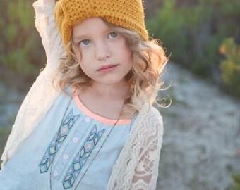 Boho Crocheted Head Wrap