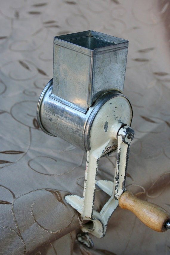 vintage table mount cheese grater mill hand crank germany 820