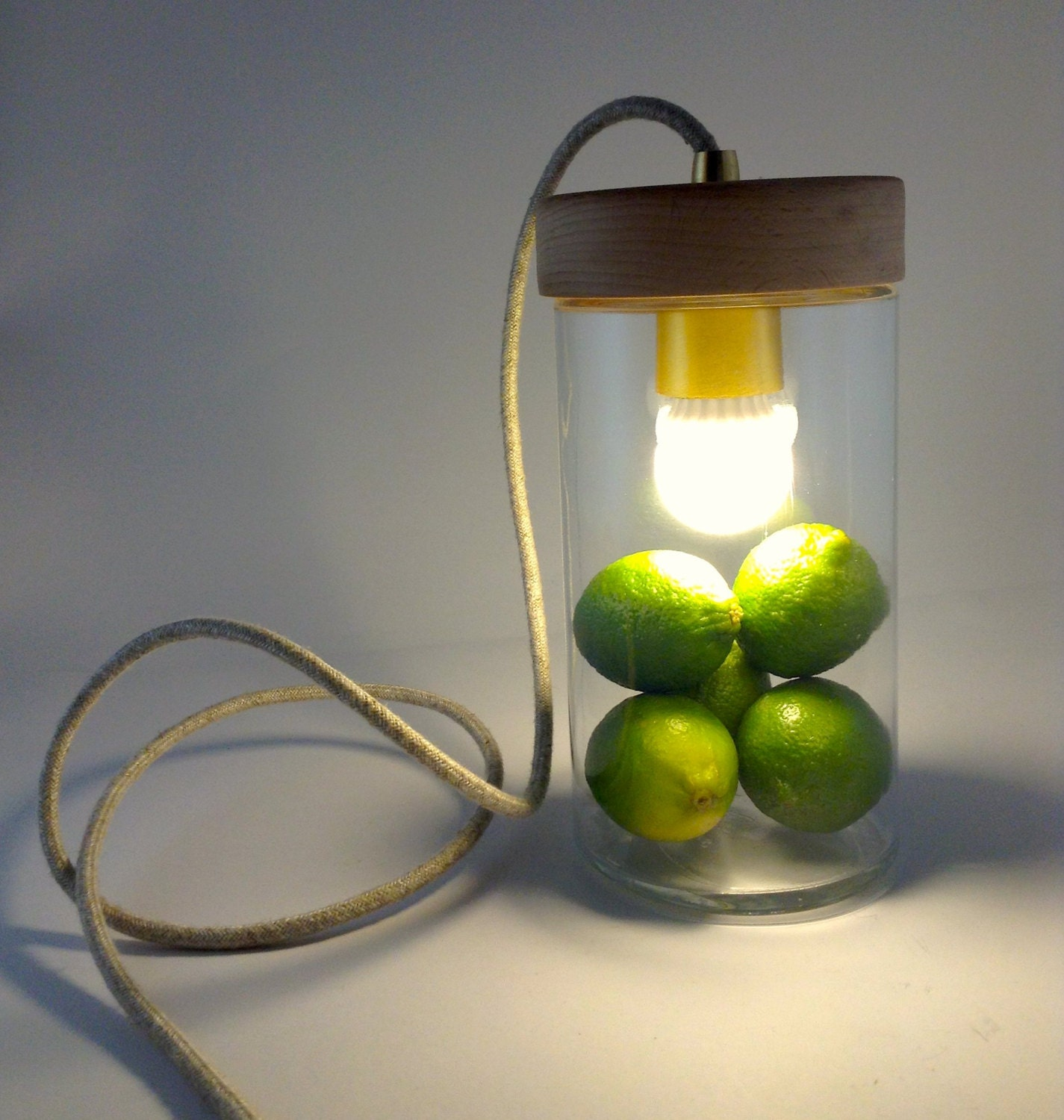 Jar Pendant Lamp Clear Glass Jar Pendant Light By LightingAlchemy