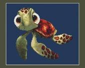 Cute Squirt From Disney Finding Nemo Cross Stitch Pattern in PDF for Instant Download