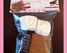 S'more  Bag Topper S'more For Later Party Favor Bag Topper Treat Topper Personalize for your party!