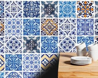 Tuiles traditionnelle espagnole autocollants de tuiles for Stickers azulejos cocina