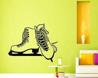 Vinyl Wall Decals Ice Skate Skating Decal Sticker Home Decor Art Mural Z658